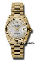 Rolex 18K Yellow Gold Model 178278MDP