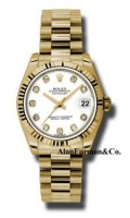 Rolex 18K Yellow Gold Model 178278WDP