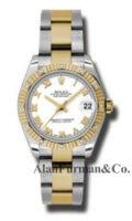 Rolex SS 18K Yellow Gold Model 178313WRO