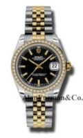 Rolex SS 18K Yellow Gold Model 178383BKIJ