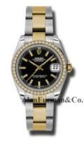 Rolex SS 18K Yellow Gold Model 178383BKIO