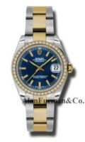 Rolex SS 18K Yellow Gold Model 178383BLIO