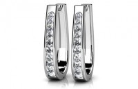Diamond Earrings 14K White Gold .98cttw Model SE1