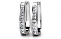 Diamond Earrings 14K White Gold .98cttw Model SE1