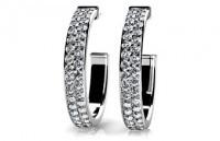 Diamonds Earrings 14K White Gold 2.56cttw Model SE42-A