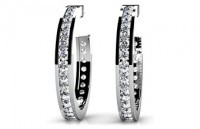 Diamond Earrings 14K White Gold .92cttw Model SE45