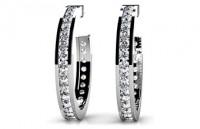 Diamond Earrings 14K White Gold .92cttw Model SE45