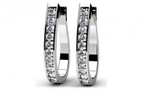 Diamond Earrings 14K White Gold .77cttw Model SE49