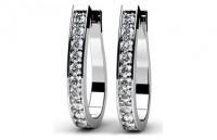 Diamond Earrings 14K White Gold .77cttw Model SE49
