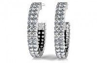 Diamond Earrings 14K White Gold 2.05cttw Model SE55