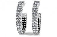 Diamond Earrings 14K White Gold 2.05cttw Model SE55