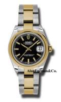 Rolex SS 18K Yellow Gold Model 178243BKIO