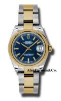 Rolex SS 18K Yellow Gold Model 178243BLIO