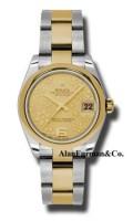 Rolex SS 18K Yellow Gold Model 178243CHFO