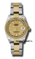 Rolex SS 18K Yellow Gold Model 178243CHIO