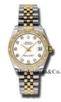 Rolex SS 18K Yellow Gold Model 178343WDJ