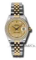 Rolex SS 18K Yellow Gold Model 178273CHDJ Custom