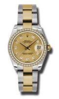 Rolex SS 18K Yellow Gold Model 178383CHDO Custom