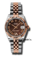 Rolex SS 18K Rose Gold Model 178271CHODRJ