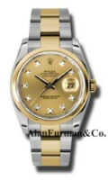 Rolex SS 18K Yellow Gold Model 116203CHDO