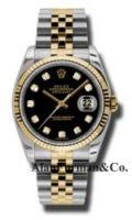 Rolex SS 18K Yellow Gold Model 116233BKDJ