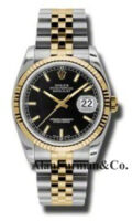Rolex SS 18K Yellow Gold Model 116233BKSJ