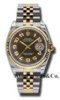 Rolex SS 18K Yellow Gold Model 116233BRAJ