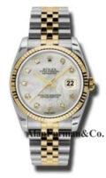 Rolex SS 18K Yellow Gold Model 116233MDJ