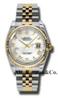 Rolex SS 18K Yellow Gold Model 116233MRJ