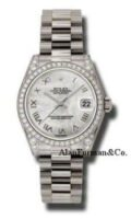 Rolex Datejust 18K White Gold 31mm Model 178159