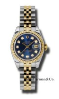 Rolex SS 18K Yellow Gold Model 179173BLDJ