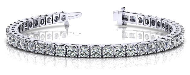 Tennis Bracelet 14K White Gold