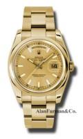 Rolex 18K Yellow Gold Model 118208CHSO