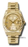 Rolex 18K Yellow Gold Model 118238CHDP