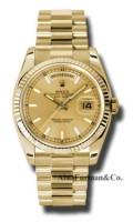 Rolex 18K Yellow Gold Model 118238CHSP