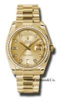 Rolex 18K Yellow Gold Model 118348CHD