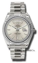 Rolex 18K White Gold Model 228239SSMIP