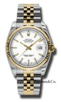 Rolex SS 18K Yellow Gold Model 116233WSJ