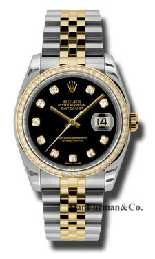 Rolex SS 18K Yellow Gold Model 116243BKDJ