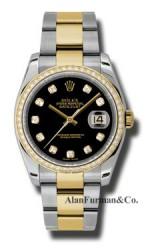 Rolex SS 18K Yellow Gold Model 116243BKDO