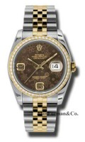 Rolex SS 18K Yellow Gold Model 116243BRFAJ