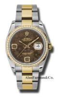 Rolex SS 18K Yellow Gold Model 116243BRFAO