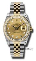Rolex SS 18K Yellow Gold Model 116243CHDJ