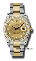 Rolex SS 18K Yellow Gold Model 116243CHDO