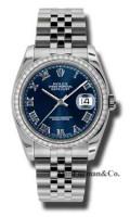 Rolex Steel Model 116244BLRJ