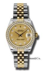 Rolex SS 18K Yellow Gold Model 178383CHDJ