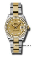 Rolex SS 18K Yellow Gold Model 178383CHDO