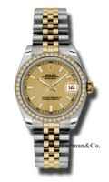 Rolex SS 18K Yellow Gold Model 178383CHIJ