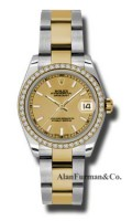 Rolex SS 18K Yellow Gold Model 178383CHIO