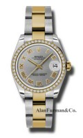 Rolex SS 18K Yellow Gold Model 178383GRO